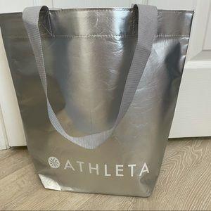 Athleta Reusable Tote Bag Color Silver